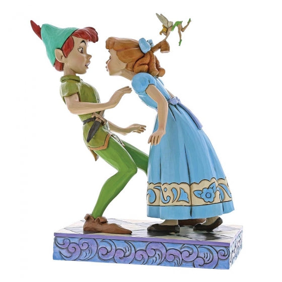 Disney's Peter Pan An Unexpected Kiss Peter & Wendy 65th Anniversary Piece 19 x 11 cm