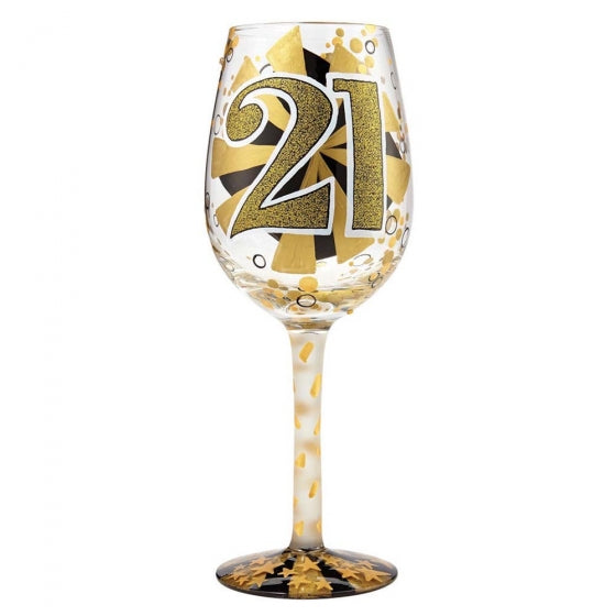 Lolita 21st Birthday Wine Glass Boxed