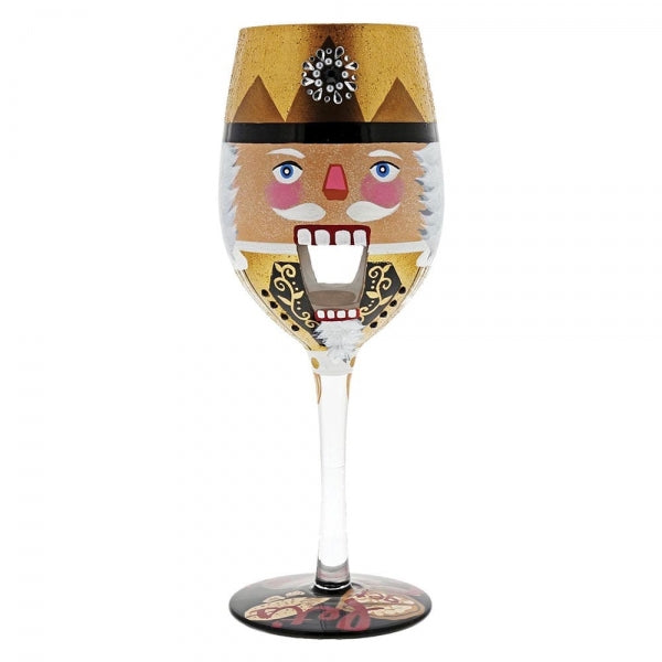 Lolita Let's Get Crackin' Christmas Wine Glass