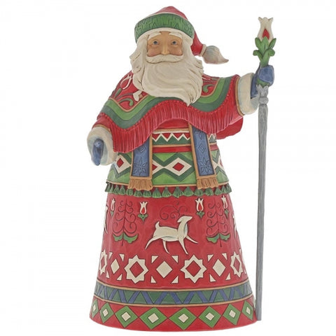 Jim Shore Christmas Nordic Noel (Lapland Santa with Staff) 26cm