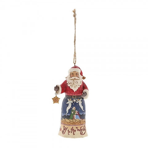Jim Shore Christmas Joy To The World Santa Hanging Ornament