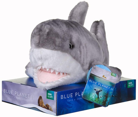 BBC Earth Blue Planet II SHARK Soft Toy 12455PP