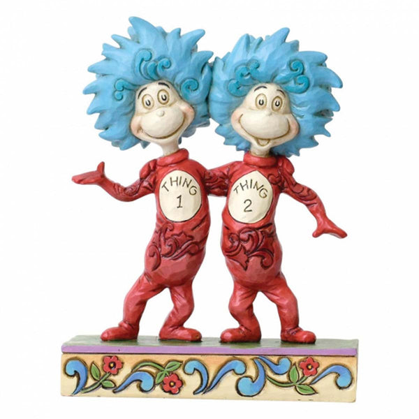 Dr Seuss Thing 1 and Thing 2 Figurine 6002908