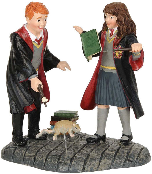 Harry Potter Village Ron and Herminone Wingardium Leviosa! Figurine 7cm