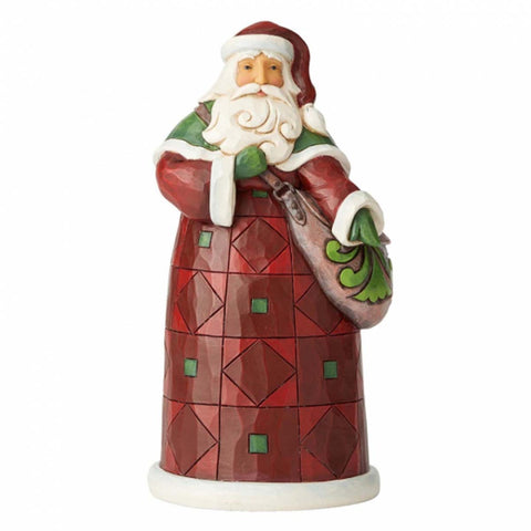 Heartwood Creek by Jim Shore SANTA WITH SATCHEL 6004139
