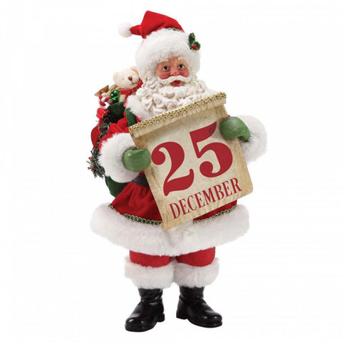 Possible Dreams  SAVE THE DATE SANTA Christmas Figurine 6003463
