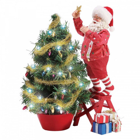 Possible Dreams SANTA CLIMBING TO THE TOP Christmas Figurine 6003847