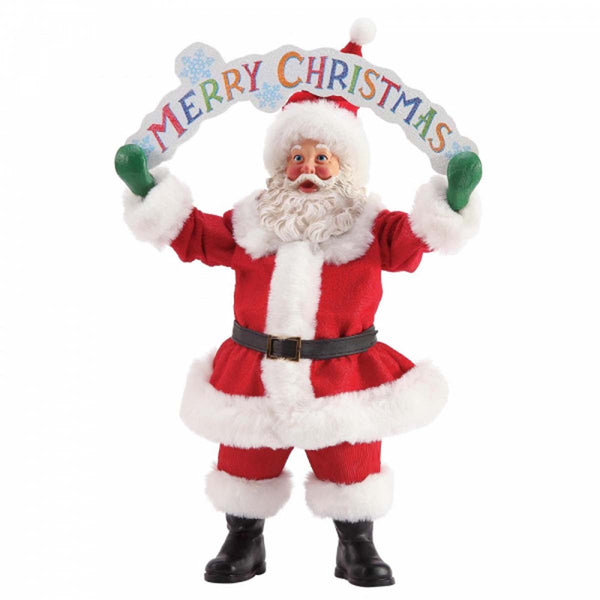 Possible Dreams MERRY CHRISTMAS SANTA  Figurine 6003853