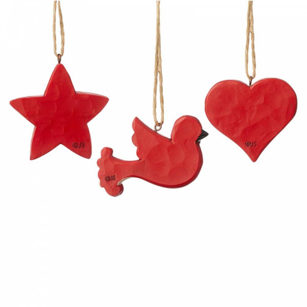 Heartwood Creek by Jim Shore SET 3 MINI ORNAMENTS 6004233