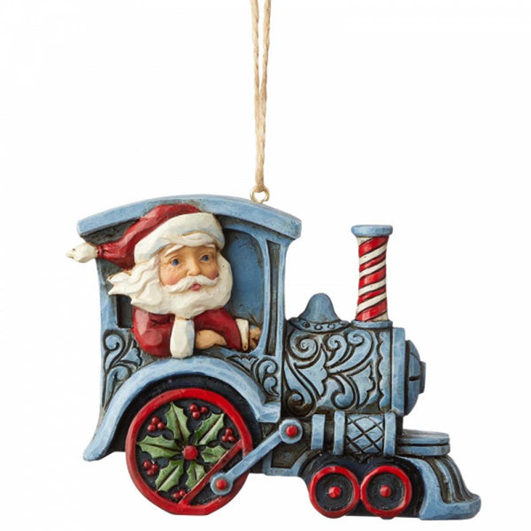 Heartwood Creek by Jim Shore SANTA IN TRAIN ENGINE ORNAMENT 6004311