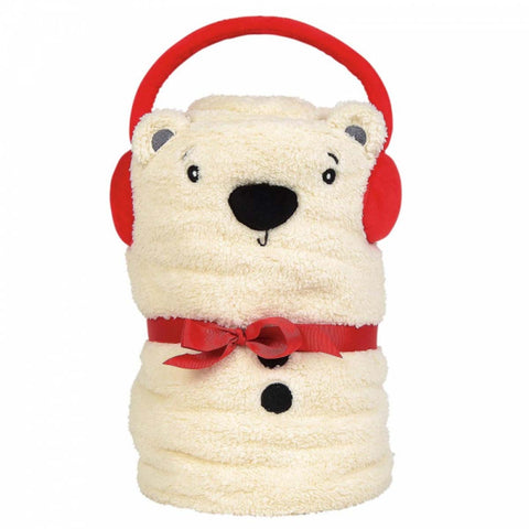 Snowpinions  POLAR BEAR SNOWTHROW Fleece Blanket 6004640