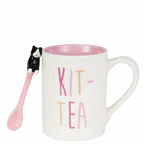 Our Name Is Mud KIT-TEA MUG WITH SPOON SET 6003681