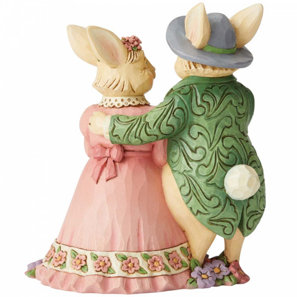 Heartwood Creek by Jim Shore BUNNY COUPLE W/ BASKET 6006232