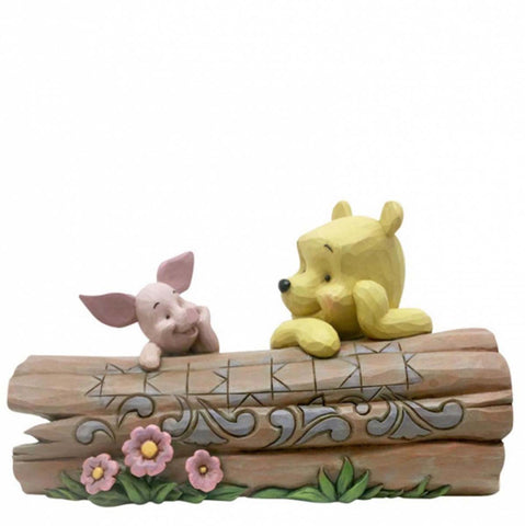 Disney Traditions POOH AND PIGLET ON A LOG  6005964