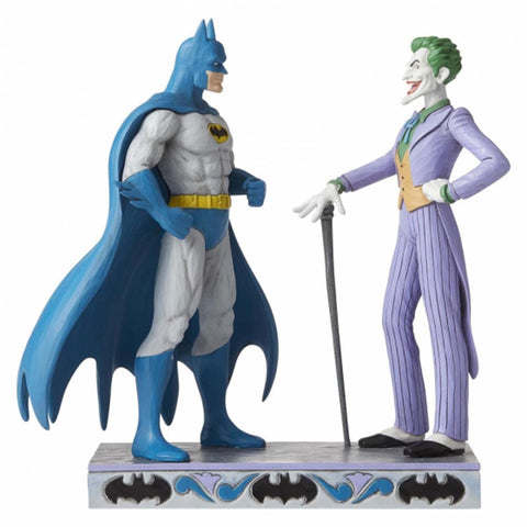 DC Comics by Jim Shore BATMAN AND THE JOKER FIGURINE 6005982