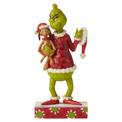 The Grinch by Jim Shore GRINCH AND MAX FIG 6006570