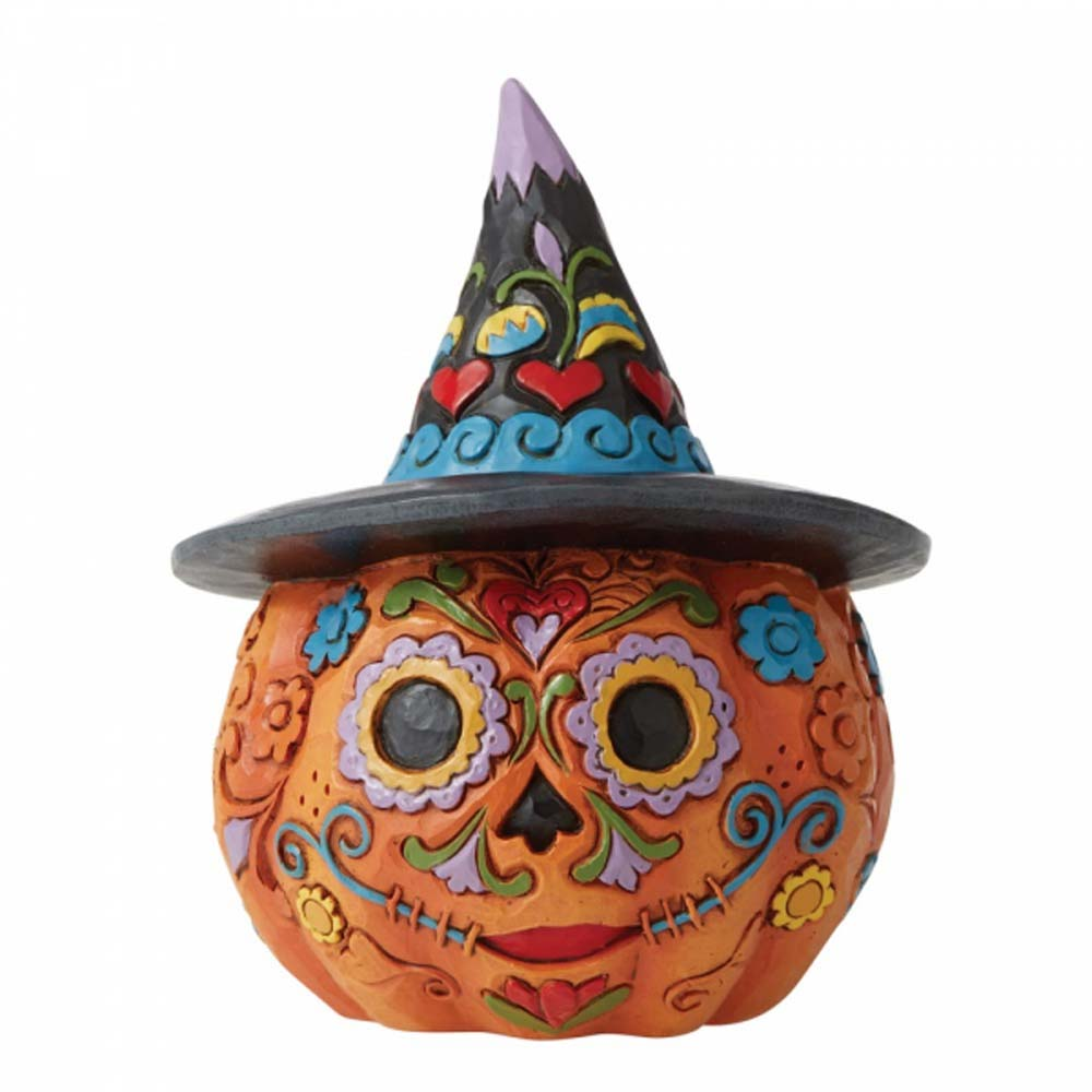 Enesco DAY OF THE DEAD JACK-O-LANTERN CAST STONE 6006703