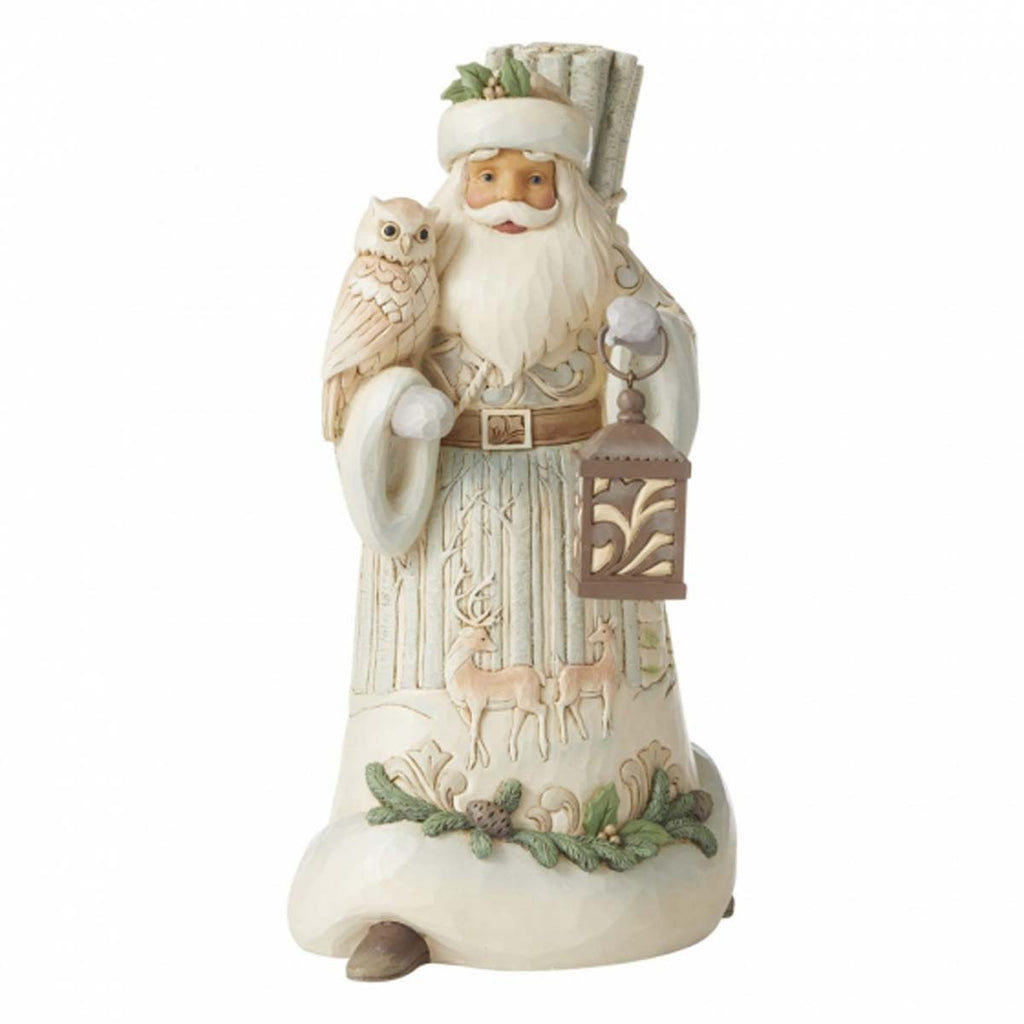 Heartwood Creek by Jim Shore SANTA WITH OWL/LANTERN FIG 6006578