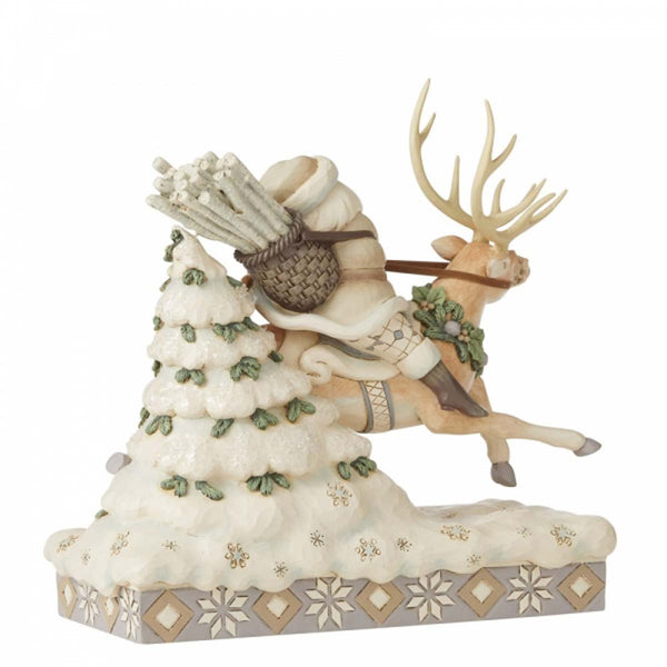 Heartwood Creek by Jim Shore SANTA RIDING REINDEER FIG 6006579