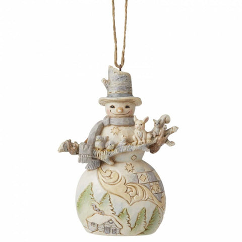 Heartwood Creek by Jim Shore SNOWMAN HANGING ORNAMENT 6006587