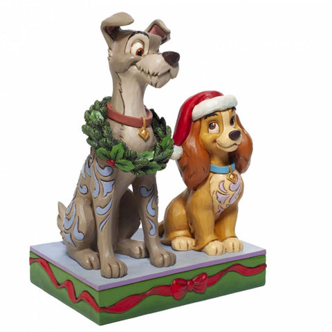 Enesco LADY AND THE TRAMP FIGURINE  CAST STONE 6007071