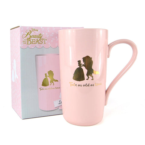 Beauty and the Beast Tale As Old As Time Pink Latte Mug