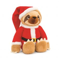 Keel Toys Sloth With Santa outfit 25cm soft toy