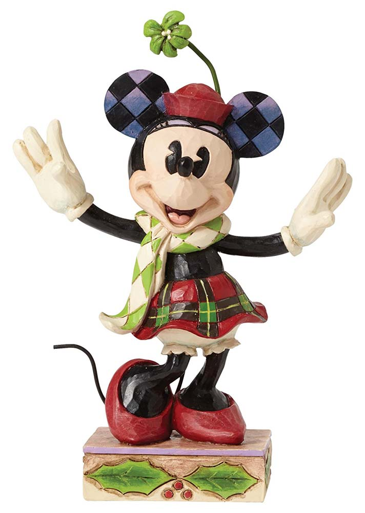 Disney Traditions Merry Minnie Mouse Ornament Figure New Boxed
