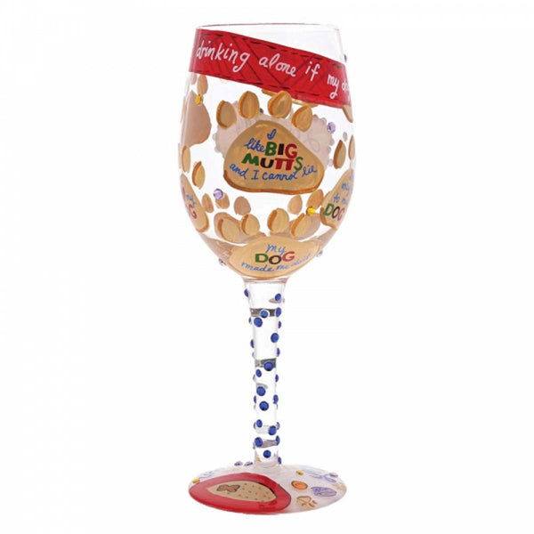 Lolita LOVE MY DOG WINE GLASS 4054092