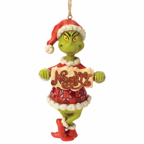 The Grinch by Jim Shore GRINCH NAUGHTY OR NICE SIGN HO 6002073