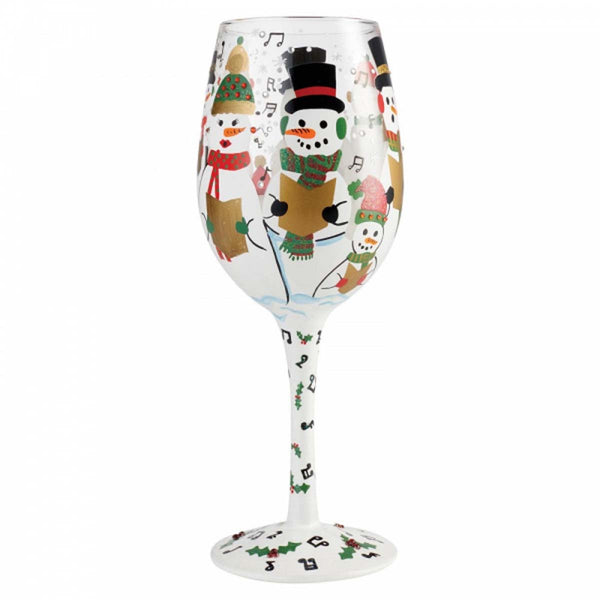 Lolita SINGING IN THE SNOW WINE GLASS 6002980