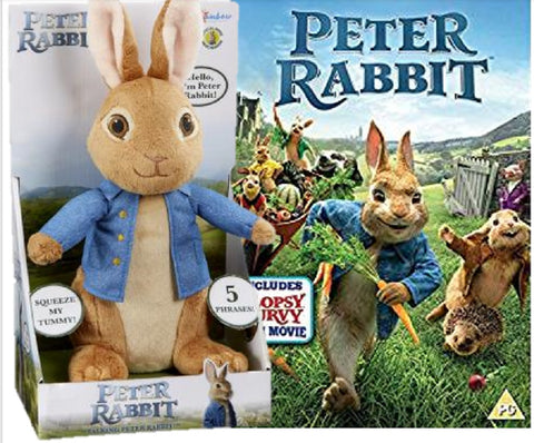 Talking Peter Rabbit Movie Soft Toy PO1504 with Peter Rabbit DVD