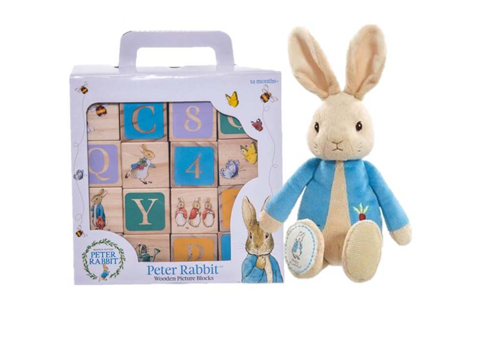 Peter Rabbit Picture Blocks with My First Peter Rabbit Soft Toy New With Tags