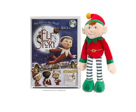 An Elf's Story DVD with 25cm Plush Boy Elf New