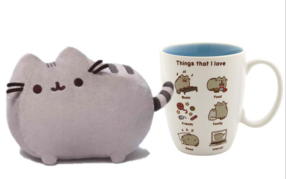 Pusheen Plush with Things I love Mug New With Tags