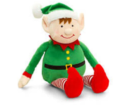 Keel Toys Christmas Dangle Stripy Elf 22cm Soft Toy New With Tags