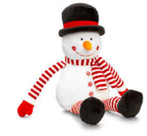 Keel Toys Christmas Dangle Stripy Snowman 22cm Soft Toy New With Tags
