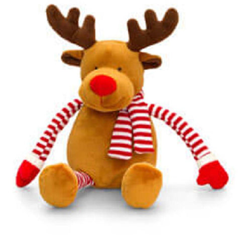 Keel Toys Christmas Dangle Stripy Reindeer 22cm Soft Toy New With Tags