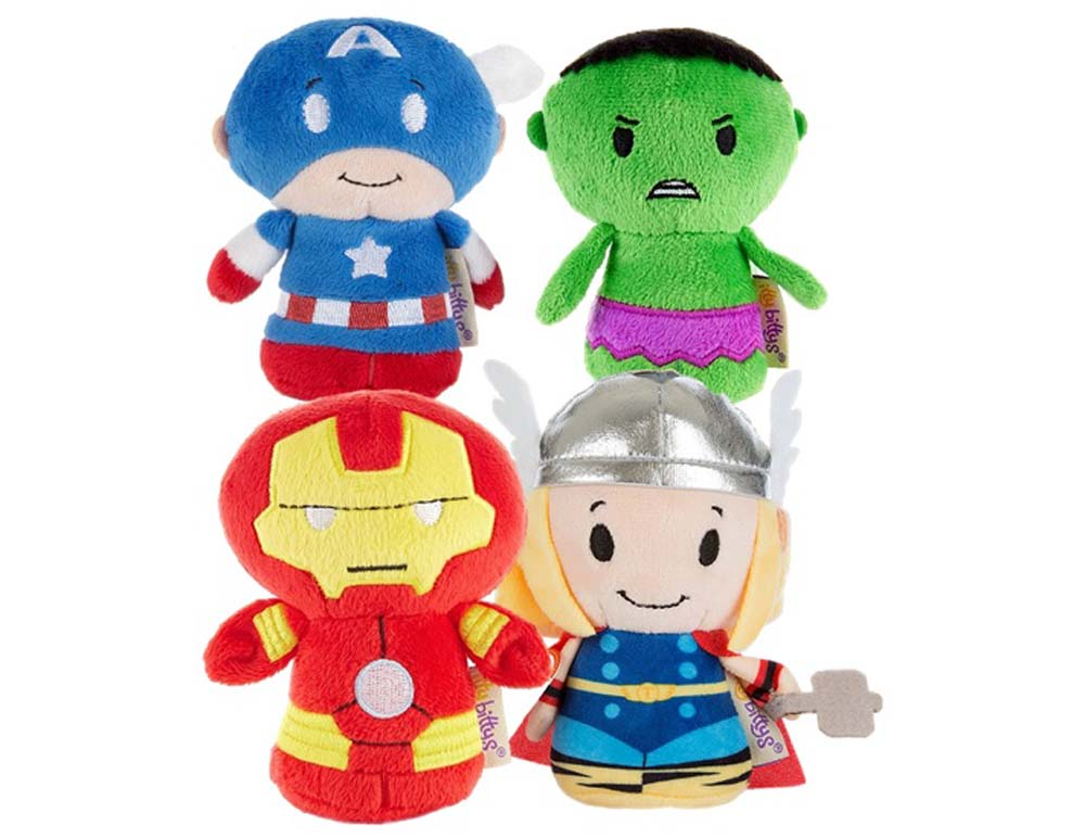 Marvel Avengers Set of Hulk, Thor, Iron man, Captain America Itty Bitty soft Toys