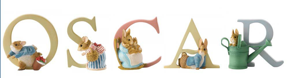 Beatrix Potter Alphabet Letters 'Oscar' Set