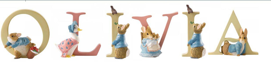 Beatrix Potter Alphabet Letters 'Olivia' Set