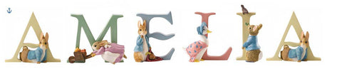 Beatrix Potter Alphabet Letters 'Amelia' Set