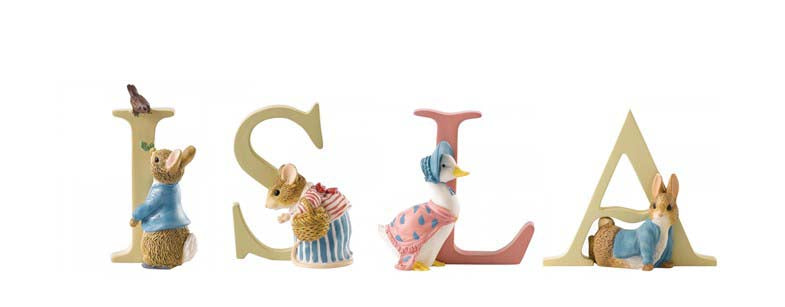 Beatrix Potter Alphabet Letters 'Isla' Set