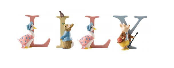 Beatrix Potter Alphabet Letters 'Lily' Set