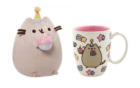 Pusheen Celebrate Mug and Birthday Pusheen Plush