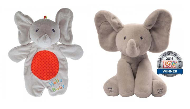 Flappy the Elephant with Flappy Lovey Comfort Toy