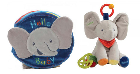 Flappy the Elephant Soft Book and Activity Toy