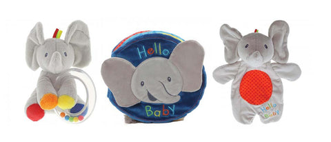 Flappy The Elephant Soft Book, Comfort Toy and Rattle