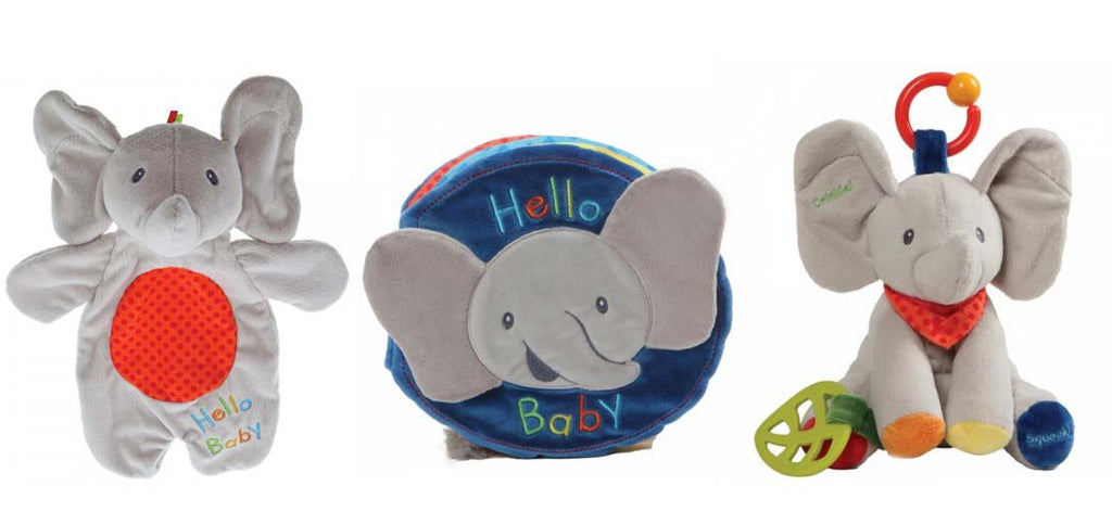 Flappy The Elephant Lovey, Plush Book and Activity Toy