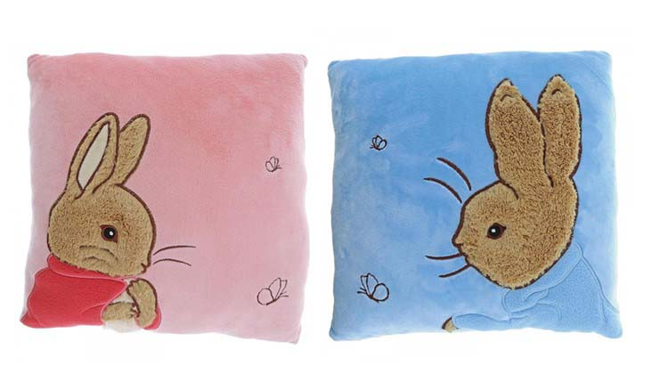 Peter Rabbit Plush Cushion and Flopsy Plush Cushion Set